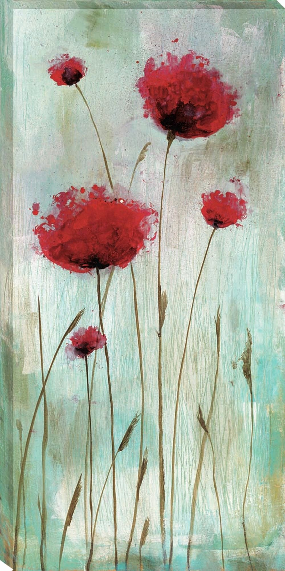 Picture Of Flowers to Paint Luxury Splash Poppies I by Catherine Brink Framed Painting Print