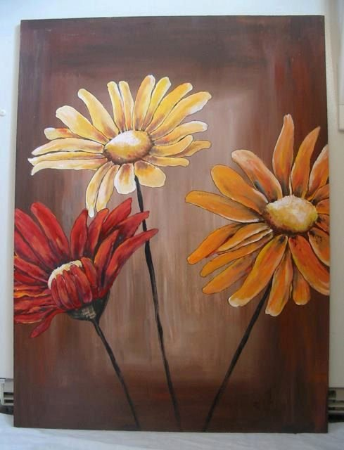 Picture Of Flowers to Paint Unique Painting On Wood Acrylic Paintings and Acrylics On Pinterest
