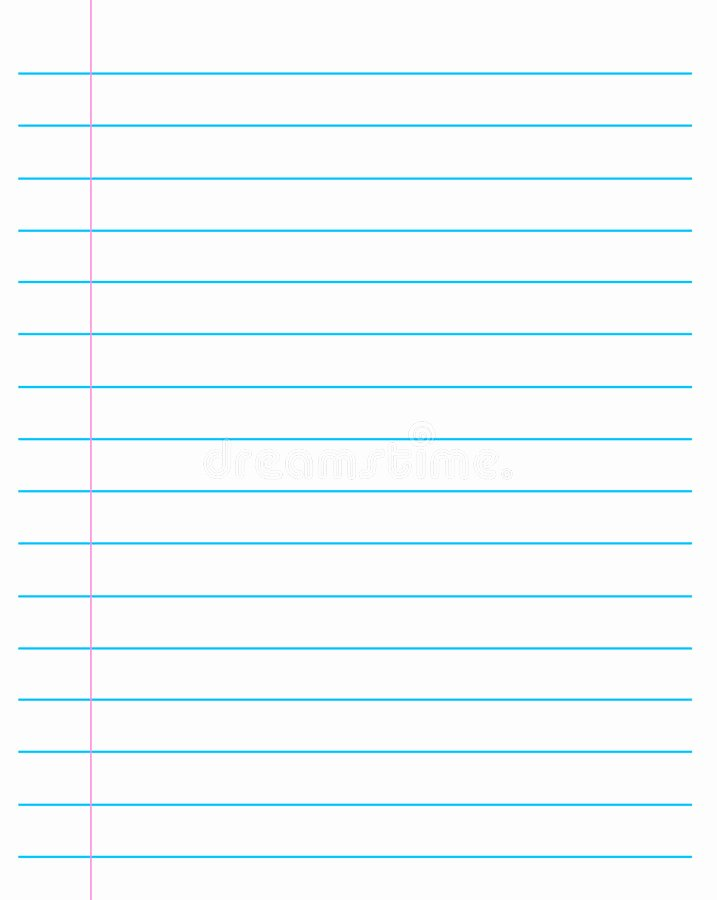 Picture Of Lined Paper Lovely Ruled Paper Lined Page Stock Vector Illustration Of