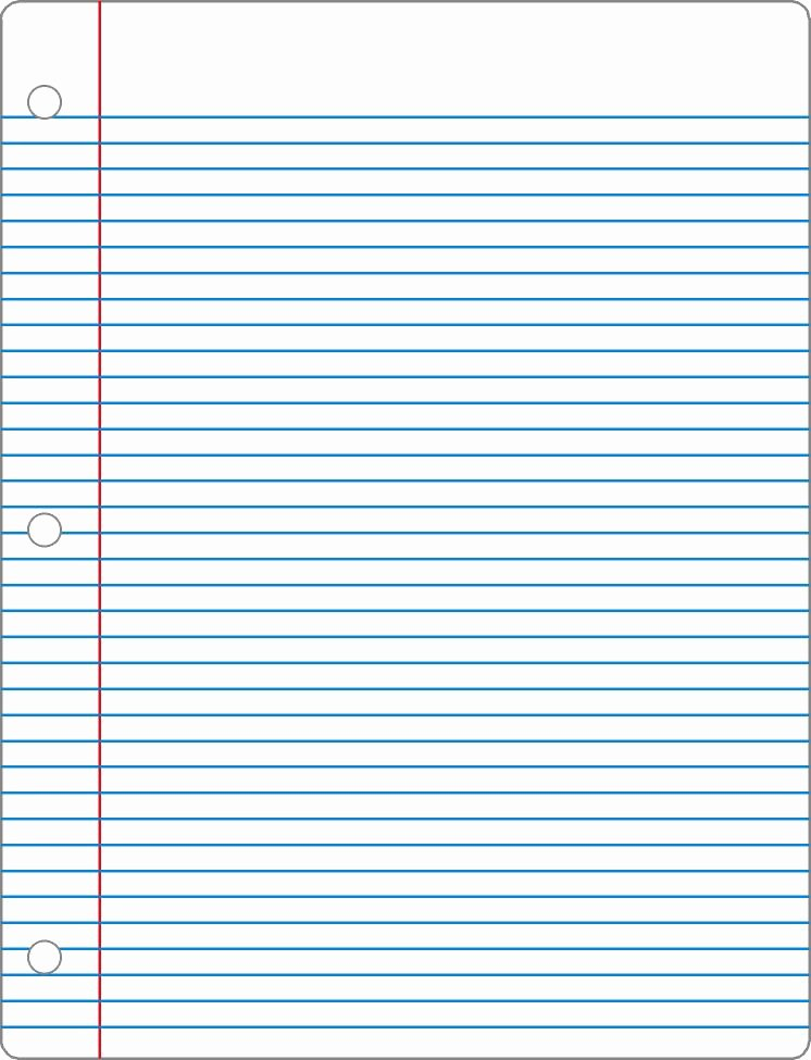 Picture Of Lined Paper Unique 7 Best Of Notebook Paper Printable Pdf Wide Ruled