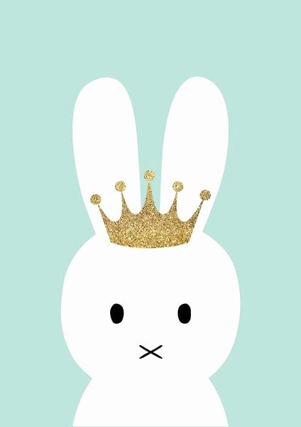 Pictures Of Bunnies to Print Fresh Princess Bunny Print – Ginger Monkey