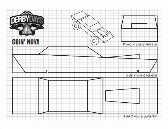 Pine Derby Car Templates New 21 Cool Pinewood Derby Templates – Free Sample Example