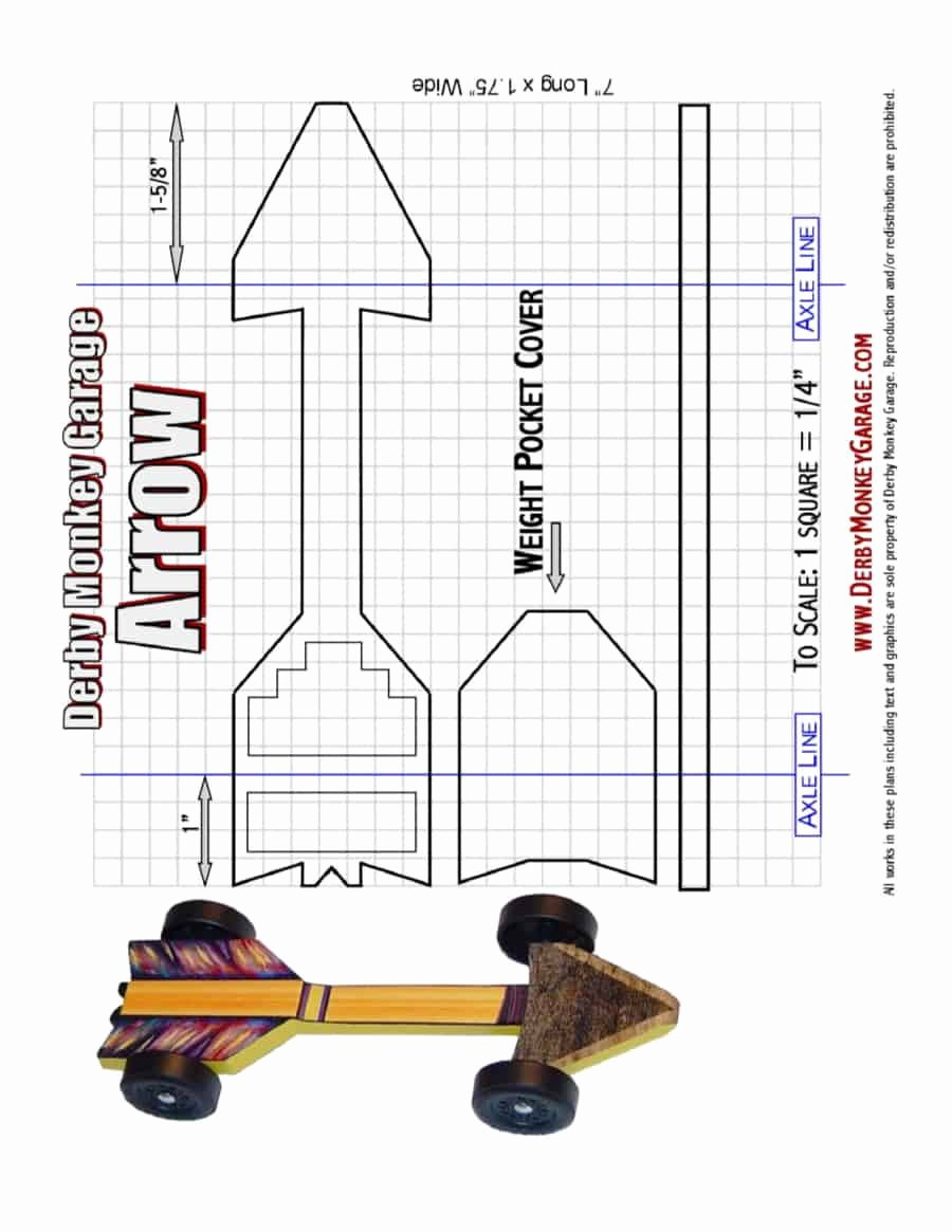 Pine Derby Car Templates Unique 39 Awesome Pinewood Derby Car Designs & Templates