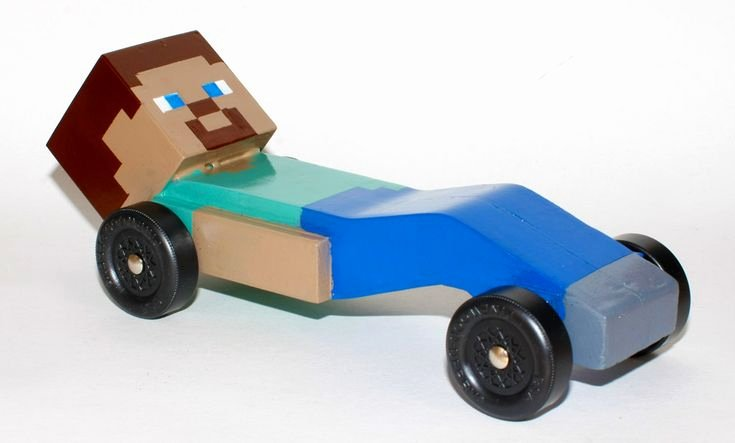 Pinewood Derby Car Designs Free Awesome so My son Wanted A Minecraft Pinewood Derby Car This Year