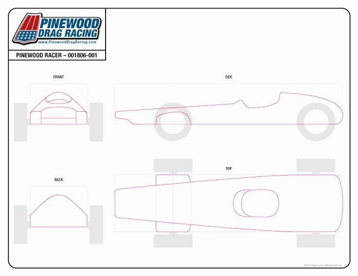 Pinewood Derby Car Plans Free Best Of Free Pinewood Derby Template by Sin Customs