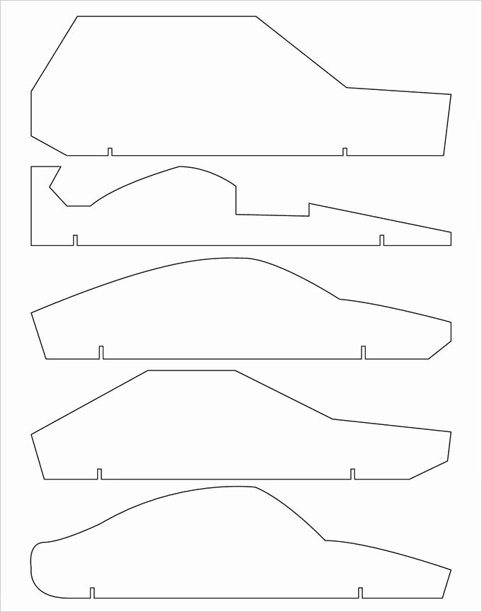 Pinewood Derby Car Stencils Inspirational 21 Cool Pinewood Derby Templates – Free Sample Example