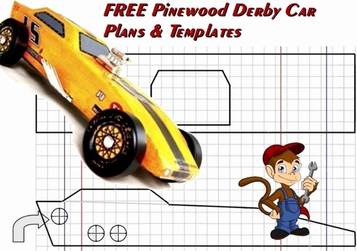 Pinewood Derby Car Templates Beautiful Free Pinewood Derby Car Plans and Templates