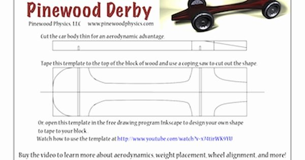 Pinewood Derby Car Templates Inspirational Pinewood Derby Templates