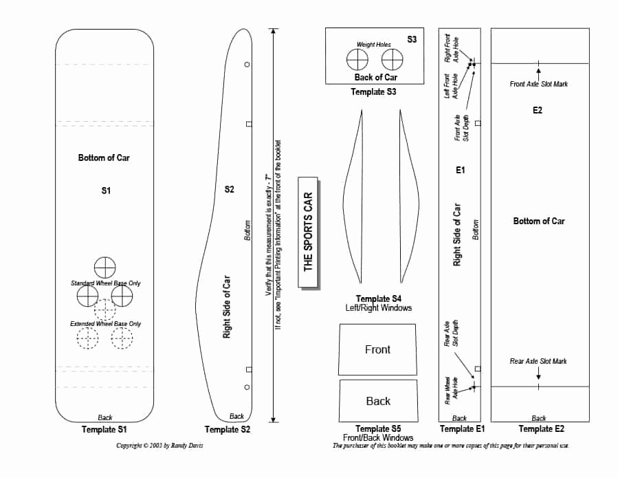 Pinewood Derby Car Templates Lovely 39 Awesome Pinewood Derby Car Designs & Templates
