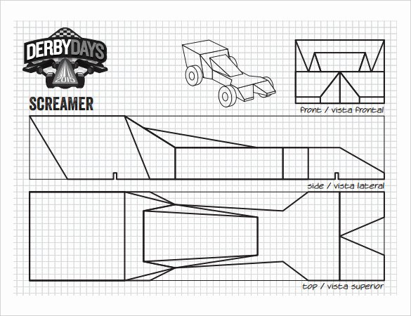 Pinewood Derby Car Templates Printable Awesome 21 Cool Pinewood Derby Templates – Free Sample Example