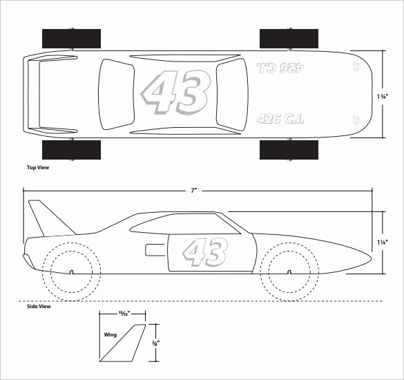 Pinewood Derby Car Templates Printable Best Of Free Pinewood Derby Templates