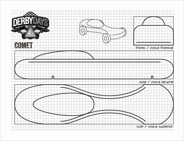 Pinewood Derby Car Templates Printable Elegant 27 Awesome Pinewood Derby Templates – Free Sample