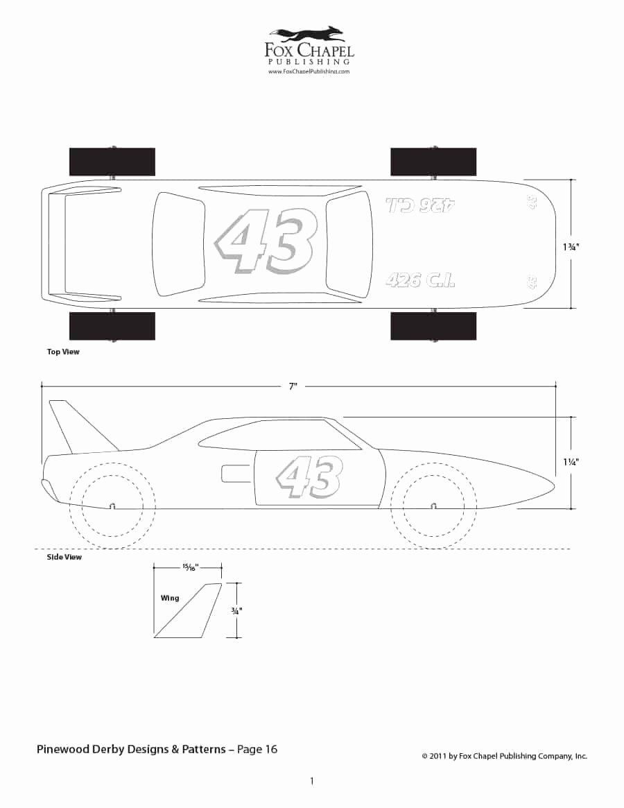 Pinewood Derby Car Templates Printable Fresh 39 Awesome Pinewood Derby Car Designs & Templates