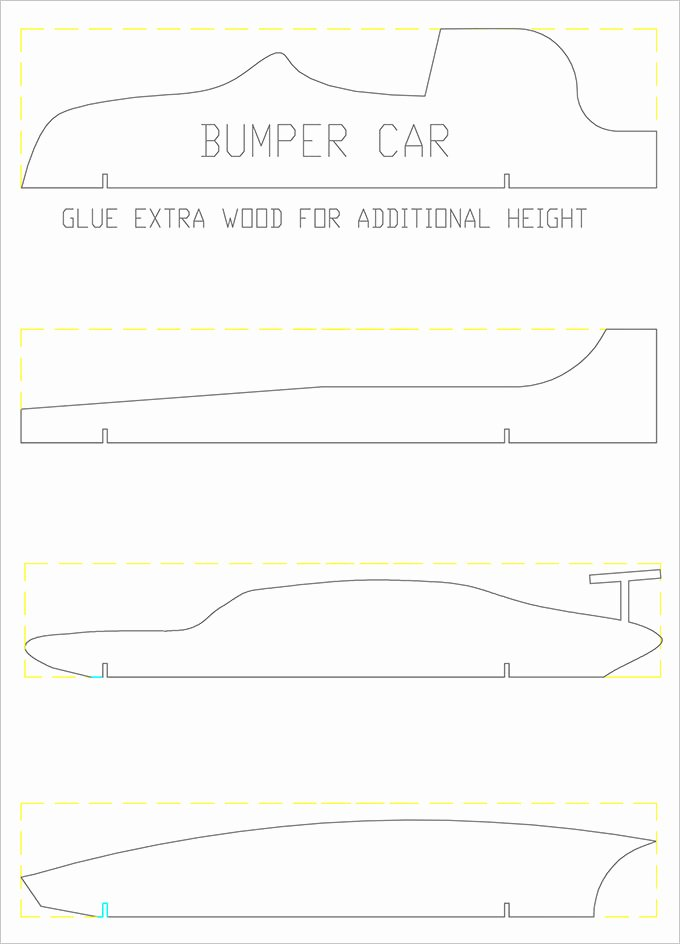 Pinewood Derby Car Templates Printable Fresh Pinewood Derby Templates