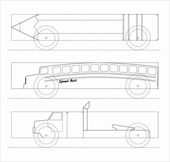 Pinewood Derby Car Templates Printable Luxury 27 Awesome Pinewood Derby Templates – Free Sample