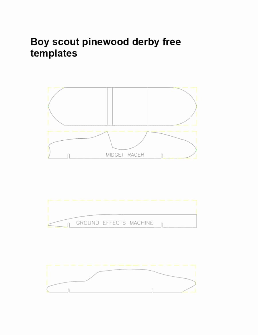 Pinewood Derby Car Templates Printable Luxury 39 Awesome Pinewood Derby Car Designs & Templates