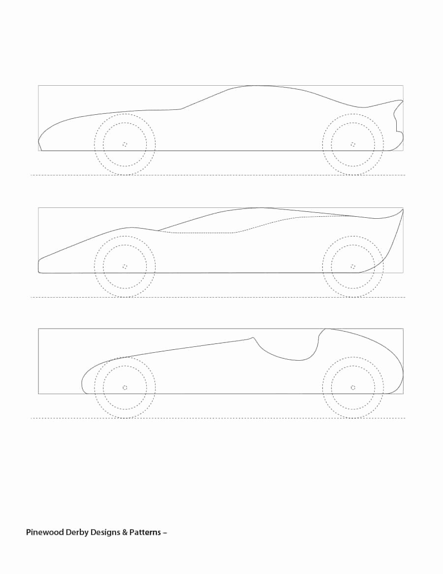 Pinewood Derby Car Templates Printable New Pine Wood Derby Template