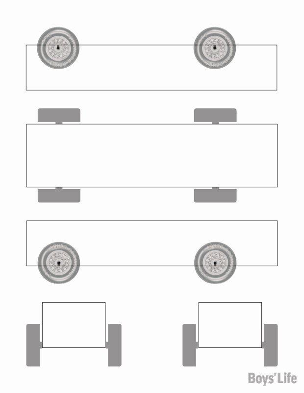 a pinewood derby car design template