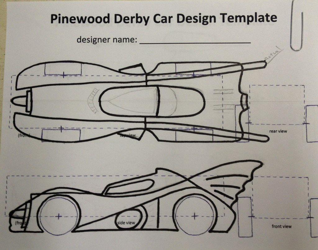 Pinewood Derby Car Templates Unique How to Build An Awesome Batmobile Pinewood Derby Car