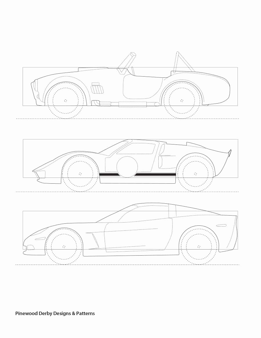 Pinewood Derby Cars Templates Free Elegant 39 Awesome Pinewood Derby Car Designs & Templates