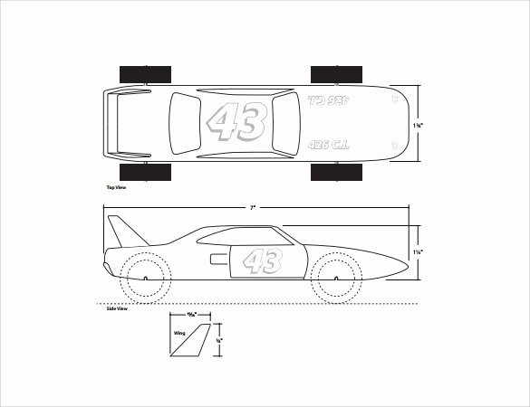 Pinewood Derby Cars Templates Free Elegant Pinewood Derby Pdf Templates Laptopfilecloud