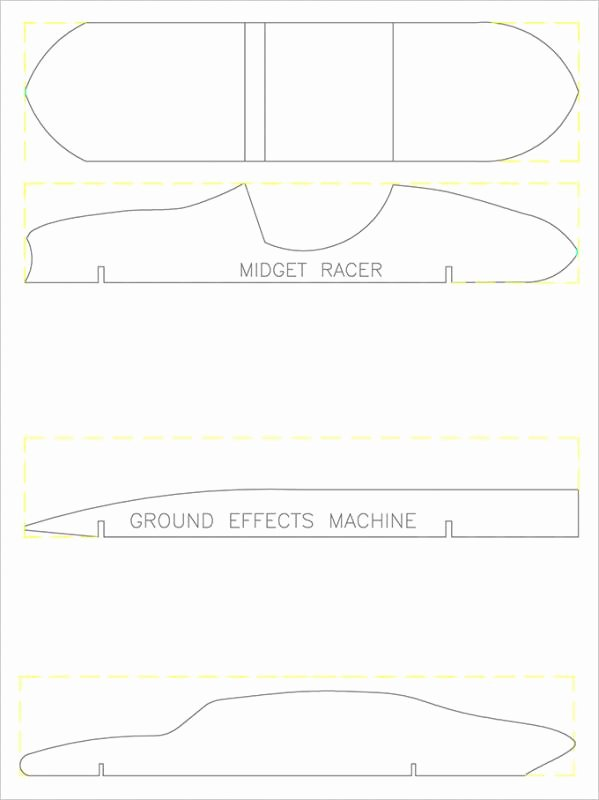 Pinewood Derby Cars Templates Free Inspirational Pinewood Derby Templates