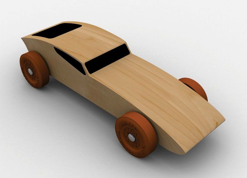 Pinewood Derby Cars Templates Free Unique Coupe Racer Pinewood Derby Car