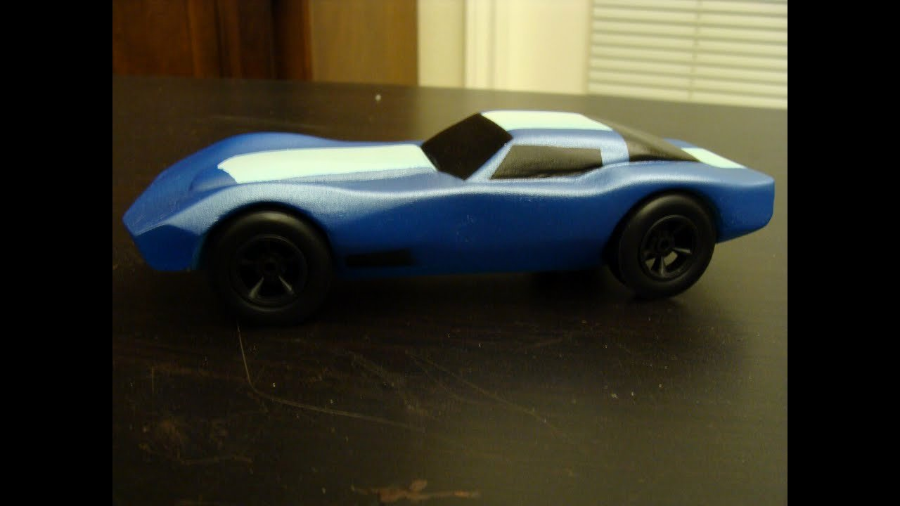 Pinewood Derby Lamborghini Template Beautiful Hand Carved Corvette Pinewood Derby Car Bsa