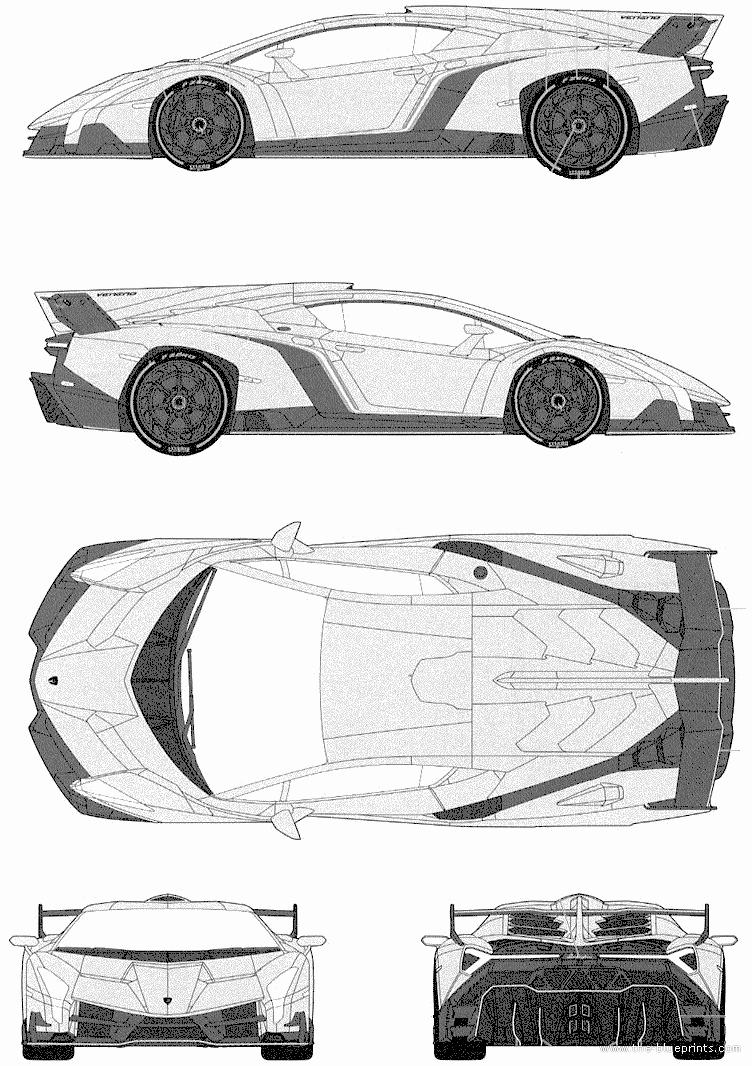 Pinewood Derby Lamborghini Template Elegant Lamborghini Veneno 2013 Png Image 752 × 1066 Pixels