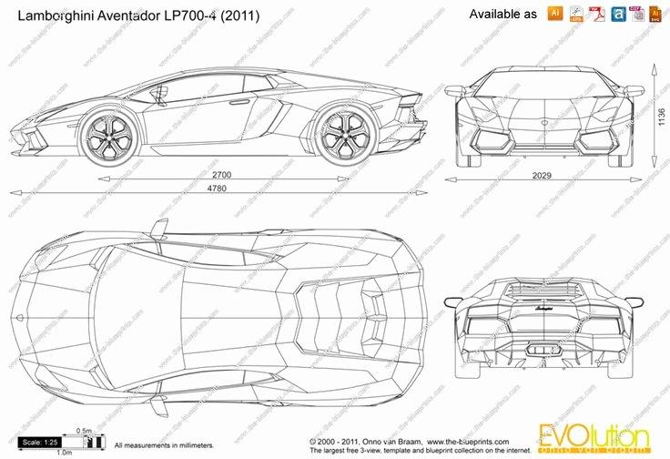 Pinewood Derby Lamborghini Template Lovely Lamborghini Aventador Lp700 4