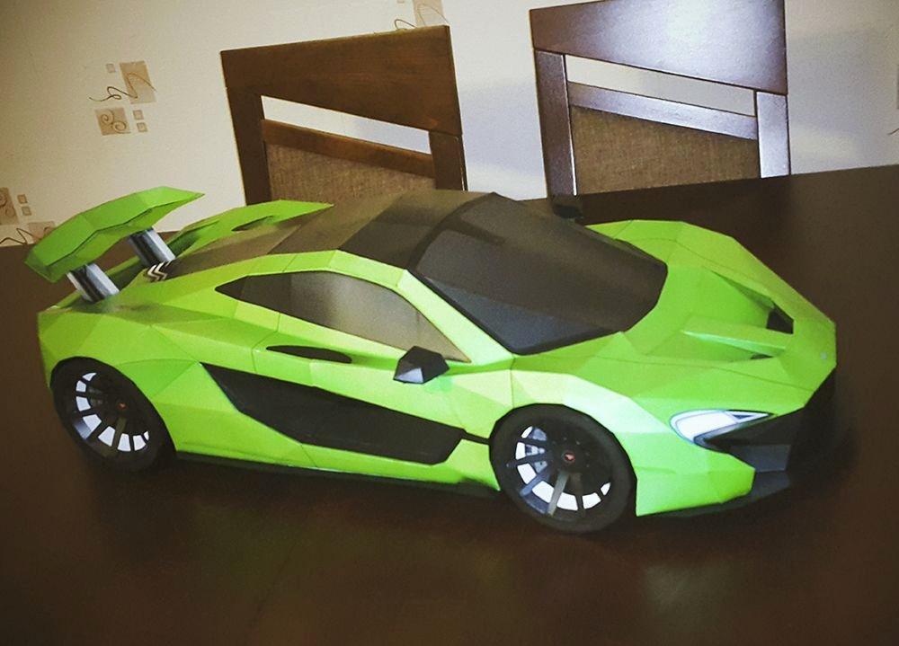 Pinewood Derby Lamborghini Template Lovely Mclaren P1 Lush Diy Papercraft Model Built by Kestutis