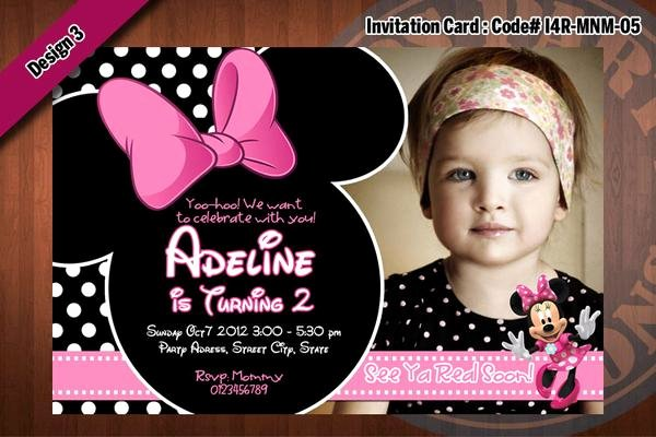 Pink Minnie Mouse Invitations Elegant Minnie Mouse Invitations Minnie Mouse Birthday Party