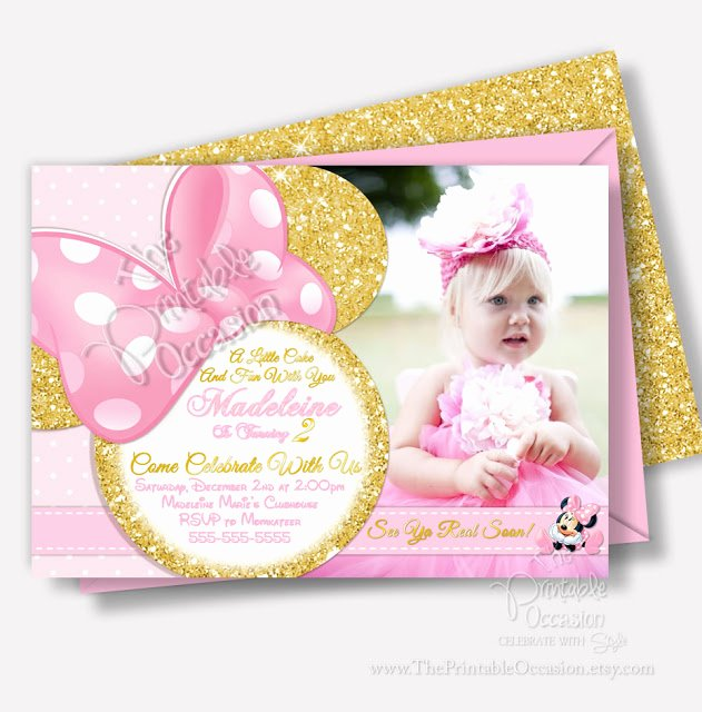Pink Minnie Mouse Invitations Lovely the Printable Occasion Party Printables Pink and Gold
