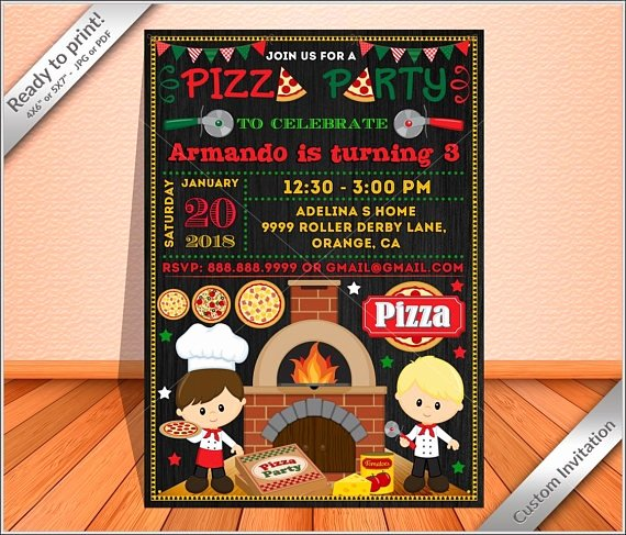 Pizza Party Invitation Template Word Beautiful 15 Pizza Party Invitation Designs & Templates Psd Ai