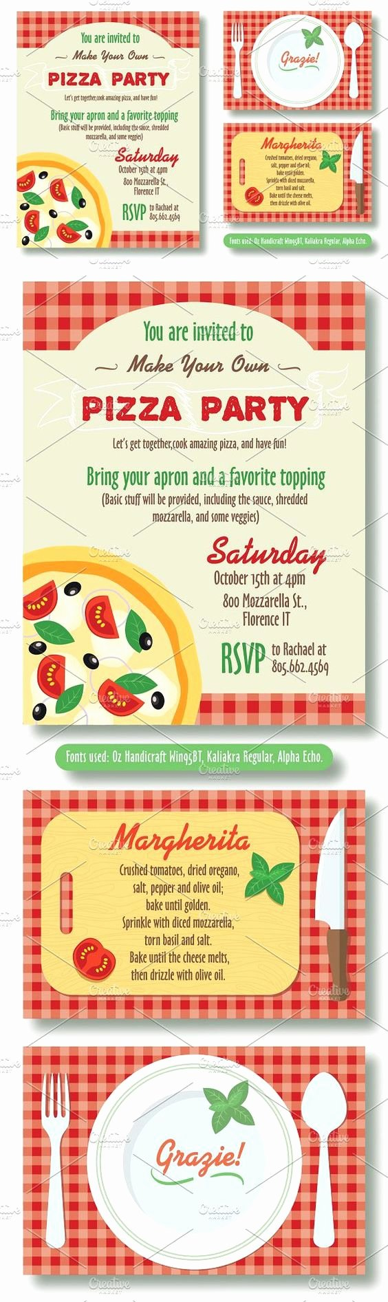 Pizza Party Invitation Template Word Beautiful Editable Pizza Party Invitation