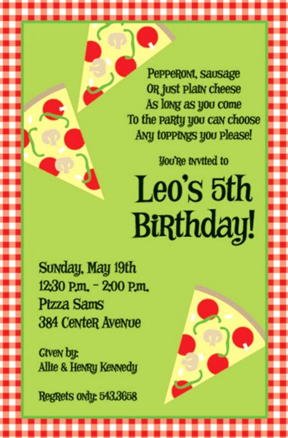 Pizza Party Invitation Template Word Beautiful Pizza Birthday Party Invitation Wording