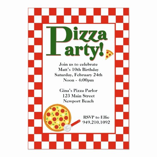 Pizza Party Invitation Template Word Best Of Pizza Party Birthday Invitation