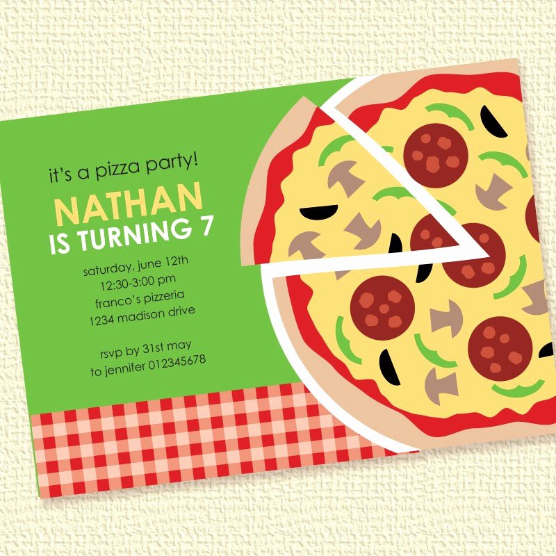 Pizza Party Invitation Template Word Best Of Pizza Party Invitation Birthday Printable Custom by Paperspice