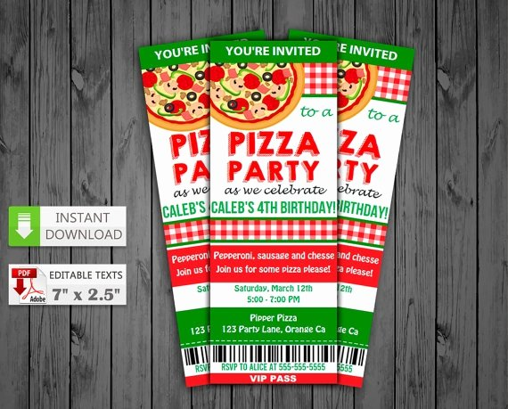 Pizza Party Invitation Template Word Elegant 15 Pizza Party Invitation Designs & Templates Psd Ai