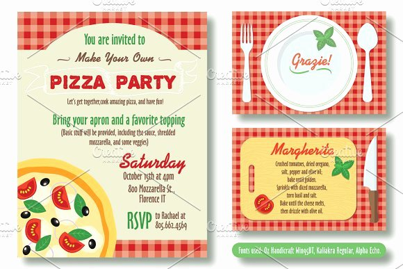 Pizza Party Invitation Template Word Elegant Editable Pizza Party Invitation Invitation Templates