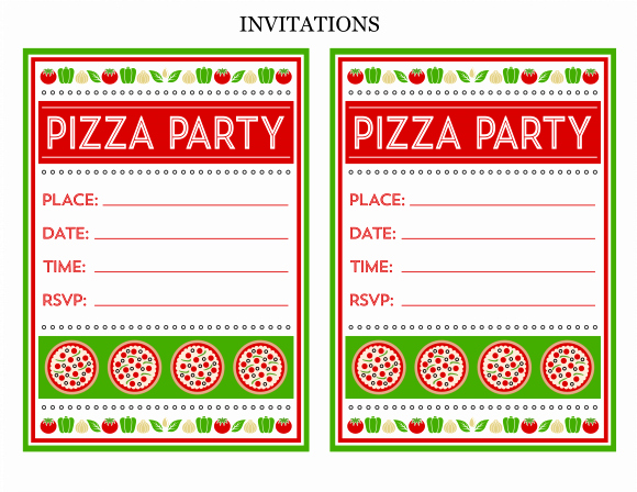 Pizza Party Invitation Template Word Elegant Free Pizza Party Printables