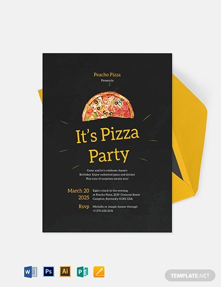 Pizza Party Invitation Template Word Inspirational 33 Party Invitation Templates Free Psd Vector Eps Ai
