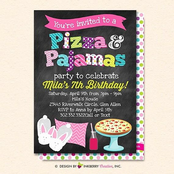 Pizza Party Invitation Template Word Luxury 15 Pizza Party Invitation Designs & Templates Psd Ai