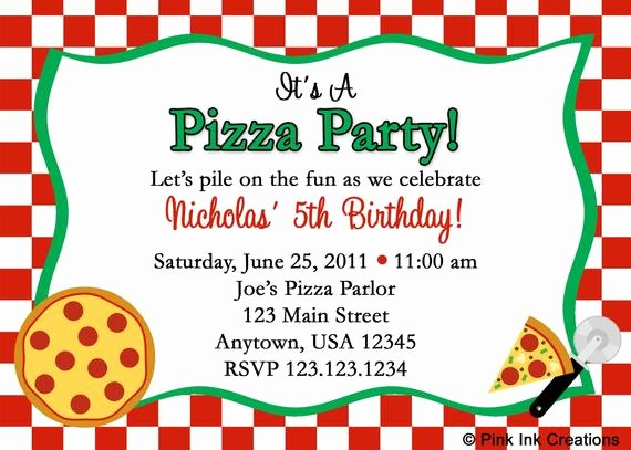 Pizza Party Invitation Template Word Luxury Unavailable Listing On Etsy