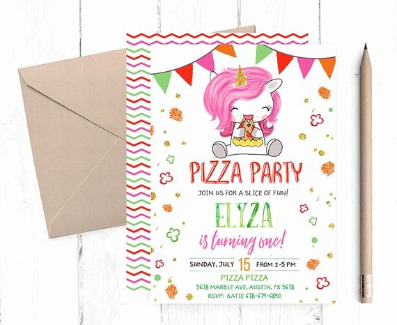 Pizza Party Invitation Template Word New Pizza Party Invitation Pizza Party Invitations Pizza
