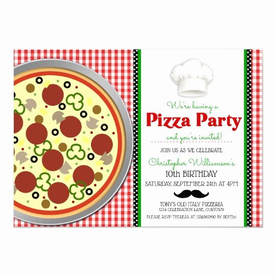 Pizza Party Invitation Template Word New Pizza Party Invitations & Announcements