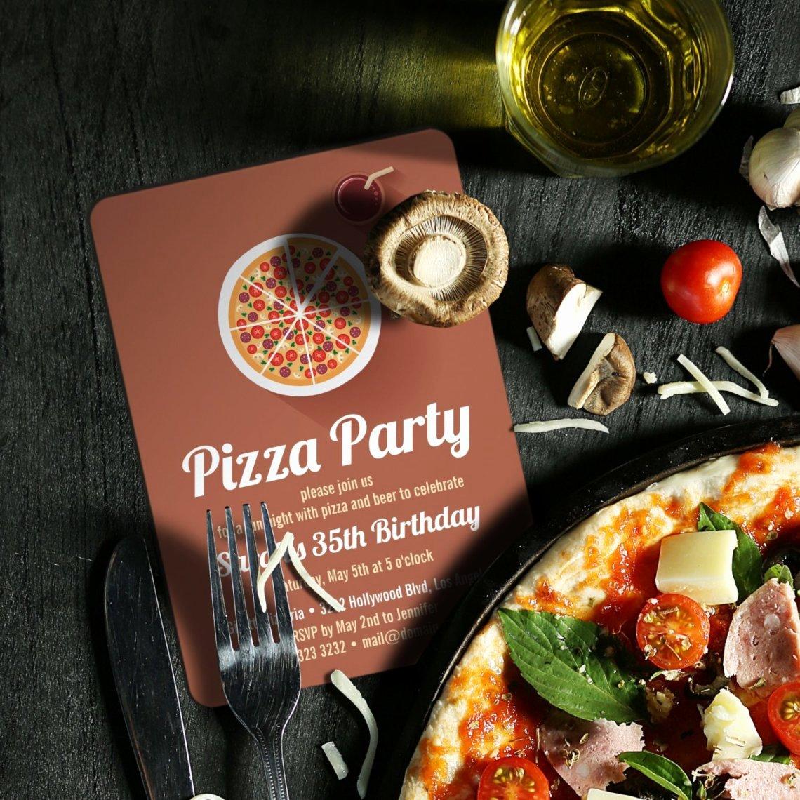 Pizza Party Invitation Template Word Unique Portfolio Archives J32 Design
