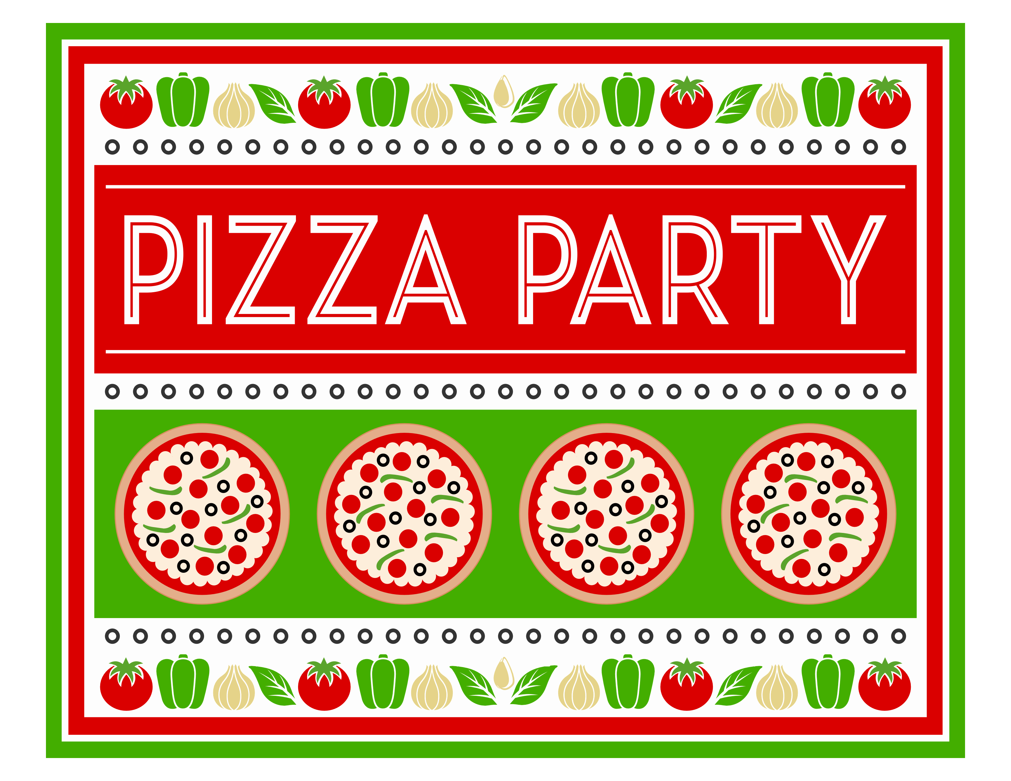 Pizza Party Invites Free Printable Awesome Free Pizza Party Printables From Printabelle