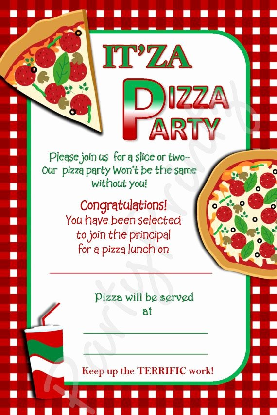Pizza Party Invites Free Printable Best Of Free Printable Pizza Party Invitation Template