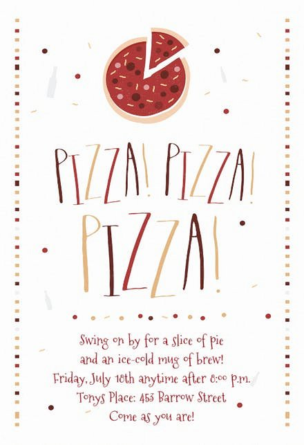 Pizza Party Invites Free Printable Best Of Pizza Party Invitation Template Free